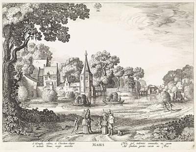 Dirt Roads Drawing - May, Jan Van De Velde II by Jan Van De Velde (ii) And Claes Jansz. Visscher (ii)
