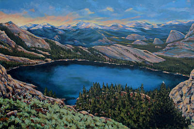 Painting - May Lake by Les Herman
