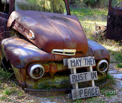 Photograph - May They Rust In Peace by Lew Davis