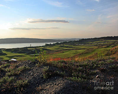 Golf Photograph - May Twilight Links - Chambers Bay Golf Course by Chris Anderson