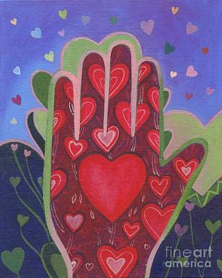 Painting - May We Choose Love by Helena Tiainen