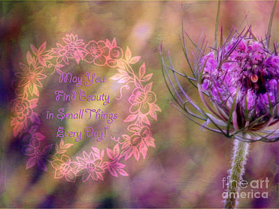 Photograph - May You Find Beauty In Small Things Every Day by Karen Lewis