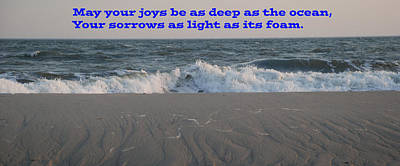 Photograph - May Your Joys Be As Deep As The Ocean by Richard Bryce and Family