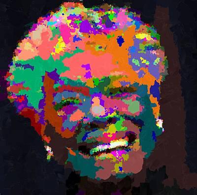 Painting - Maya Angelou - Abstract by Samuel Majcen