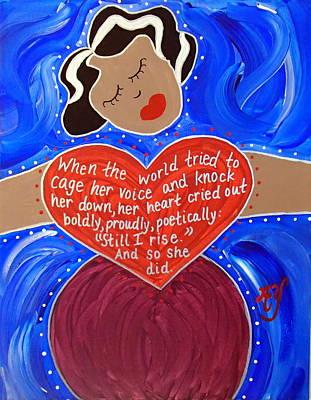 Painting - Maya Angelou by Angela Yarber