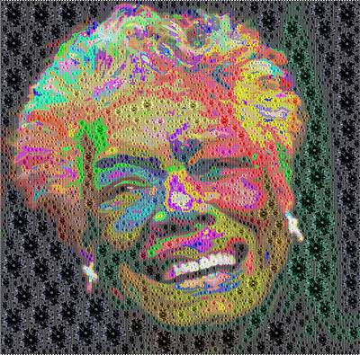 Digital Art - Maya Angelou - Colored Diamonds by Samuel Majcen