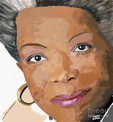 Digital Art - Maya Angelou by David Jackson