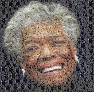 Digital Art - Maya Angelou - Diamonds by Samuel Majcen