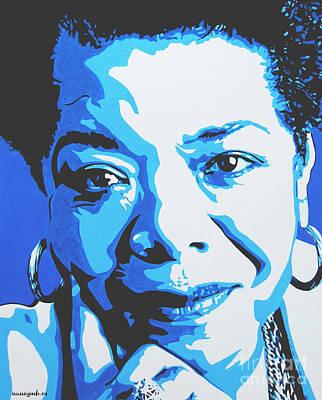 Malcolm X Painting - Maya Angelou by Nancy Mergybrower