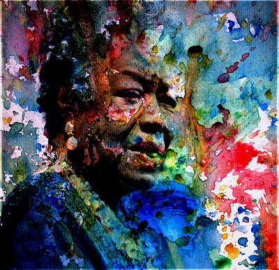 African-american Digital Art - Maya Angelou Paint Splash by Brian Reaves