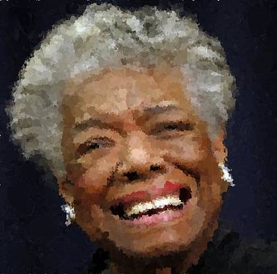 Portret Painting - Maya Angelou Portrait by Samuel Majcen