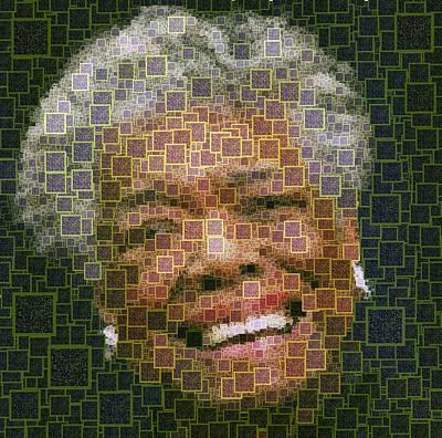 Painting - Maya Angelou - Qr Code by Samuel Majcen