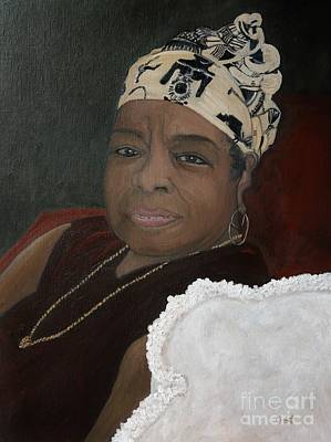 Painting - Maya Angelou by Reb Frost