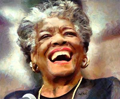 Maya Angelou Art Print by Wayne Pascall