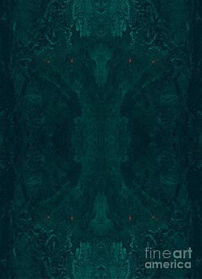 Phytoplankton Digital Art - Maya Cave Abstractt Ocean Art by Animated Sentiments