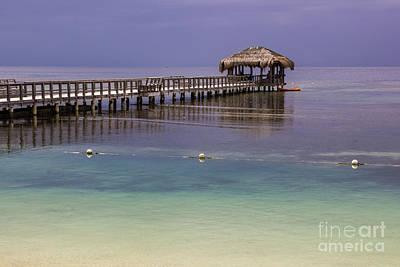 Maya Key Pier At Roatan Art Print