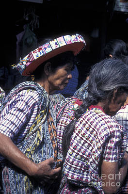 Photograph - Maya Women In Santiago Atitlan Guatemala by John  Mitchell