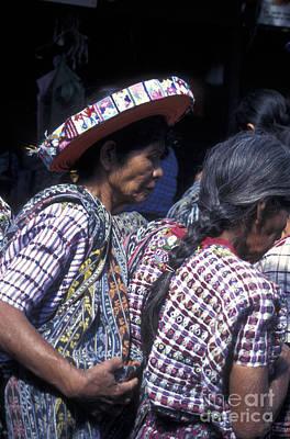 Photograph - Maya Women In Santiago Atitlan Guatemala by John  Mitchell