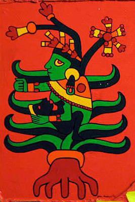 Fertility Symbols Painting - Mayahuel by Jane Madrigal