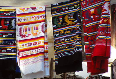 Hand-weaving Photograph - Mayan Blankets by Eva Kato