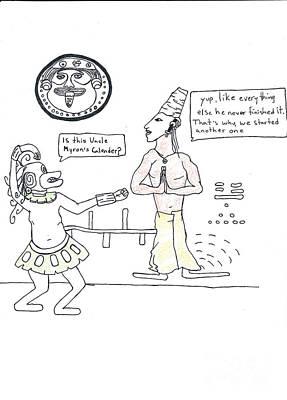 2013 Calendar Drawing - Mayan Calendar by Michael Mooney