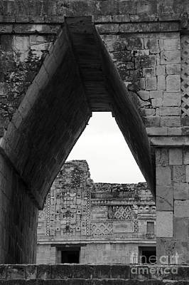 Photograph - Mayan Corbrl Arch Uxmal by John  Mitchell