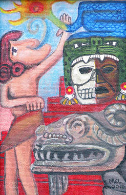 Chichen Itza Painting - Mayan Dreams by Mel Blossom