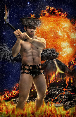 Photograph - Mayan Fire God by John Clum