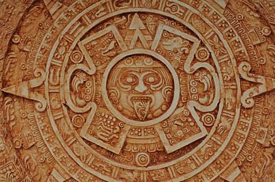 Aztec Sun God Art Print