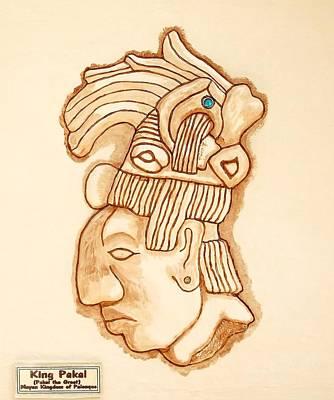 Sculpture - Mayan King Pakal The Great by Alberto H-B