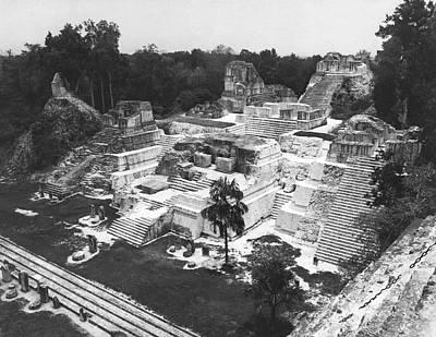Mayan Photograph - Mayan Ruins At Tikal by Underwood Archives