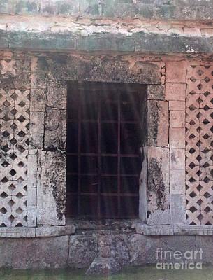 Photograph - Mayan Ruins Sunlit Window by Cindy Lee Longhini