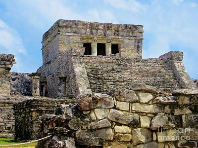 Photograph - Mayan Ruins Tulum Mexico by Tim Townsend