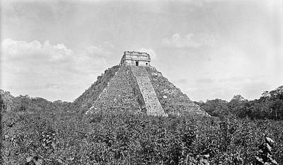 Mayan Step Pyramid Art Print by American Philosophical Society