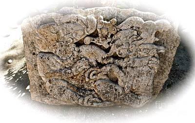 Photograph - Mayan Stone Art by John Potts