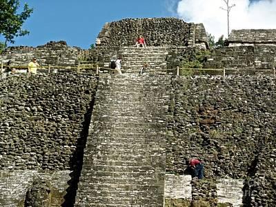 Photograph - Mayan Temple Closeup by John Potts