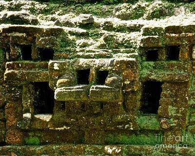 Photograph - Mayan Temple Section by John Potts