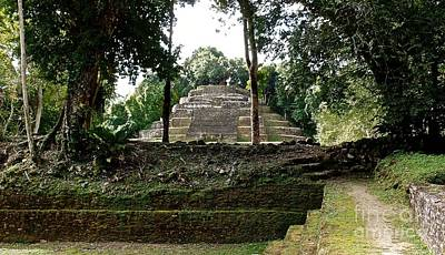 Photograph - Mayan Temple Sports Area by John Potts