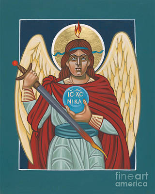 Painting - Maya's Archangel Michael 278 by William Hart McNichols