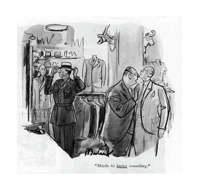 Store Fronts Drawing - Maybe He Knows Something by Perry Barlow