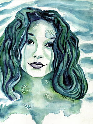 Chakra Painting - Maybe I'm A Mermaid by D Renee Wilson