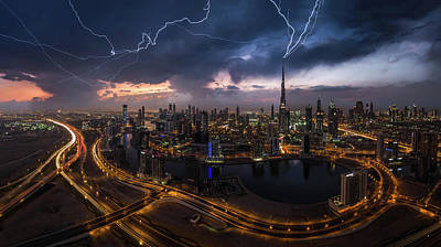 Lightning Photograph - Maybe Lightning Strike Twice by Khalid Jamal