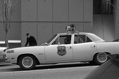 Photograph - Mayberry Meets Seattle - Vintage Police Cruiser by Jane Eleanor Nicholas