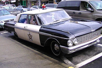 Photograph - Mayberry Police Car by Lee Hartsell