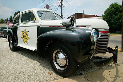 Mayberry Sheriffs Department Police Car Art Print