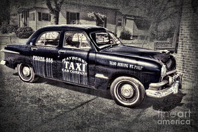 Mayberry Taxi Art Print by David Arment