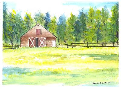 Mayberry's Barn Art Print