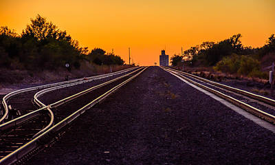 Mayfield Photograph - Mayfield Kansas Tracks by Larry Pacey
