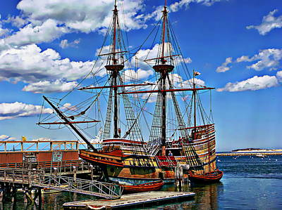 Photograph - Mayflower Exhibit by Anthony Dezenzio