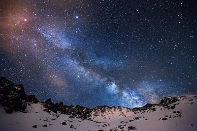 Clear Sky Photograph - Mayflower Gulch Milky Way by Darren  White